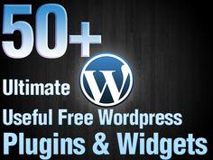 50+ Ultimate Useful Free Wordpress Plugins & Widgets How's that for free information?WOW! #wordpress #wordpressplugins