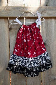 Oklahoma OU Sooners Double Ruffle Pillowcase Dress by ATowelForTea, $28.00