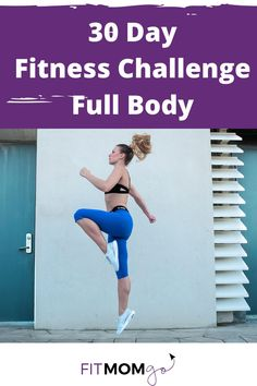 30 Day Fitness Challenge. This is a full body fitness makeover with 5 workout days per week and 2 active rest days per week. Complete this 30 Day fitness plan to improve your health and fitness in 10 minutes per day! #30dayfitnessplan #30dayfitnesschallenge
