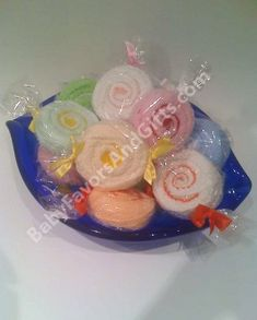 Washcloth Candy Mints baby shower favors
