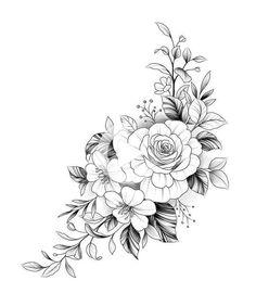 Owl Tattoo Design, Hip Tattoo Designs, Mandala Tattoo Design, Tattoo Design Drawings, Flower Tattoo Designs, Tattoo Designs For Women, Tattoo Women, Flower Hip Tattoos, Hip Tattoos Women