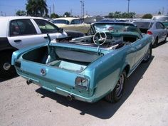 1965 Ford Convertible Mustang - Stolen and Stripped Sn95 Mustang, Ford Mustang Fastback, Project Cars For Sale, 1967 Shelby Gt500, Ford Convertible, Mustang For Sale, Custom Muscle Cars, Pony Car, Dream Cars