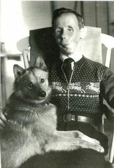 Simo Hayha, the Finnish sniper with 505 confirmed kills in the Winter War and his dog Kille.