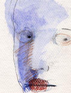 sketch on stubbled paper