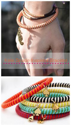 Make it and fake it blog site.  A plethora of DIY tutorials.  This pic is a knock off of a Kate Spade bracelet.