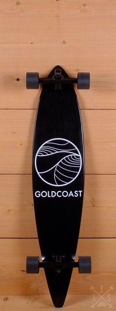 "GoldCoast Prebuilt 40"" Black Pintail Longboard"