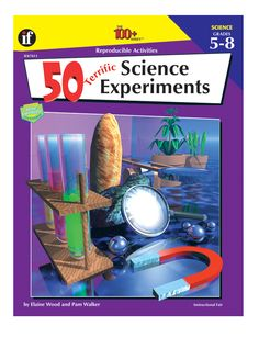 50 Terrific Science Experiments presents exciting lab activities designed to help middle school students better understand the concepts included in the science disciplines of physical, earth, and life science. All labs rely on easy-to-locate and inexpensive materials. Students will find the lab directions clear and simple to follow, giving them the freedom to work independently with only a minimum of teacher supervision. Now only $6.50!