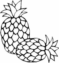 pineapple clipart black and white. pineapple embroidery pattern clipart black and white