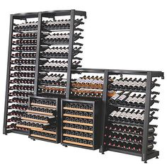 Buy the EuroCave Modulosteel 1 Column Wine Rack (Add On) at Wine Enthusiast – we are your ultimate destination for wine storage, wine accessories, gifts and more! Wine Cellar Modern, Glass Wine Cellar, Wine Cellar Racks, Home Wine Cellars, Wine Cellar Design, Wine Shop Interior, Wine Corker, Wine Cellar Basement, Basement Bar Designs