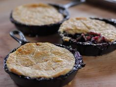 Blackberry Pot Pies Recipe : Ree Drummond : Food Network - FoodNetwork.com