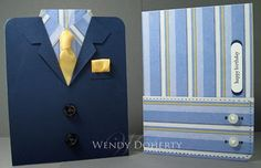 Great masculine card. When you get to this site there is another link to the tutorials and also has a few other great masculine ideas for cards.