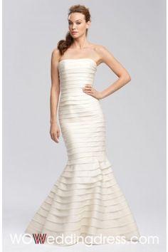 Wholesale and Retail Splendid Trumpet/Mermaid Ruffled Tiered Wedding Dresses - Beautiful Wedding Dresses Wholesale and Retail Online