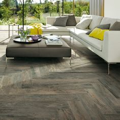 Club Tobacco Wood Grain Tile, Wood Look Tile, Plank Flooring, Flooring Ideas, Floors, Outdoor Furniture Sets, Outdoor Decor, Contemporary Ceramics, Porcelain Tile
