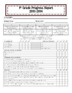 1000 images about report card comments report writing for First grade progress report template