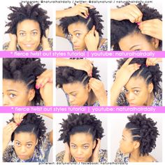 Quick, easy and fierce twist out style by Neecie. To check out Neecie's favourite twist out styles simply visit: https://www.youtube.com/watch?v=3ebW6BepwfU / www.youtube.com/naturalhairdaily
