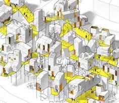 Interesting Find A Career In Architecture Ideas. Admirable Find A Career In Architecture Ideas. Architecture Design, Architecture Sketchbook, Architecture Graphics, Architecture Diagrams, Architecture Portfolio, Concept Architecture, Module Design, Axonometric Drawing, 3d Modelle