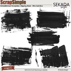 ScrapSimple Embellishment Templates: Who Said Boo Clipping Mask