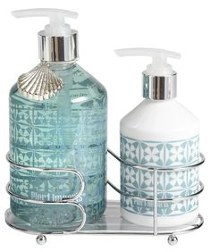 This Sea Air Soap & Lotion Caddy includes an invigorating hand wash with vitamin beads and hand lotion with shea butter, wrapped in a handy caddy and scented with a Sea Air fragrance. $15. Buy ...