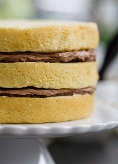 Bourbon Layer Cake with Bourbon Ganache and Milk Chocolate Buttercream