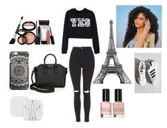 """""""Yes"""" by ariana-kurti ❤ liked on Polyvore featuring Givenchy, Topshop, Laura Geller, adidas and Bobbi Brown Cosmetics"""