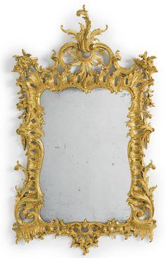 A fine George II giltwood pier mirror circa 1750 Mirror Photo Frames, Picture Frames, Mirror Image, Wall Mirror, Baroque Mirror, Antique Mirrors, Overmantle Mirror, Art Nouveau, Beautiful Mirrors