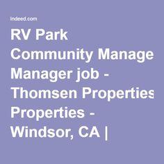 RV Park Community Manager Job