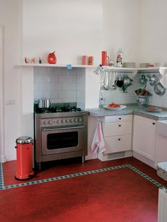 john's kitchen before-and-after: linoleum tile flooring transforms