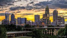 Charlotte, NC at dusk