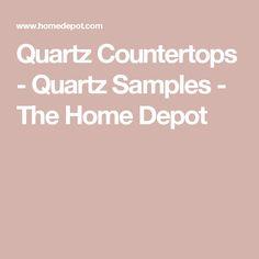 Quartz Countertops - Quartz Samples - The Home Depot