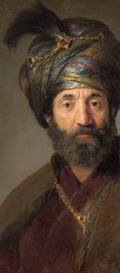 Man In Oriental Costume-Rembrandt