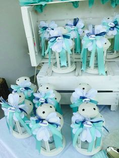 Baby shower thank you. Baptism Party, Boy Baptism, Baby Christening, Baby Shower Thank You, Baby Boy Shower, Wedding Favors, Party Favors, Tulle Balloons, Baby Shower Pictures