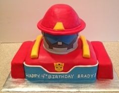 Rescue Bots Birthday Cake Close Up Of The Previous Cake
