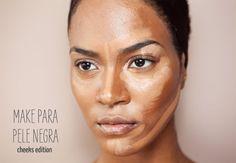 maquiagem para pele negra - blush bronzer contorno iluminador - justfound.com.br