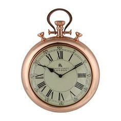 Stopwatch Wall Clock in Copper