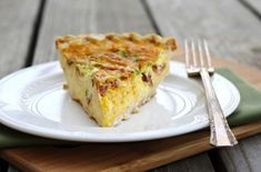 Easter Brunch: Monterey Jack and Ham Quiche. This #quiche can be prepared in advanced and frozen.  Stick the unbaked quiche in the oven an hour before serving the rest of the menu. - Foodista.com #breakfastrecipe #easyrecipe