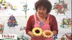 como fazer moldes de flores - YouTube
