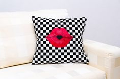 Decorative pillow case of black and white pillow by ThePillowWorld