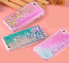 Transparent Glitter Phone Case Protect your phone from scratches, dirt and bumps. Precise openings on the protector case to allow access to all controls and feature on the phone. Easy to install and remove. The case is made of high quality.