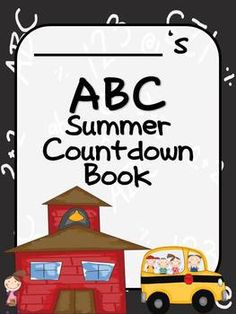 In this summer ABC countdown Memory Book. Students can treasure the special days they have had over the year with this cute Summer ABC Book. Click the picture and grab it from my teachers pay teachers store. On sale for $2.00 Sunday-  Tuesday!