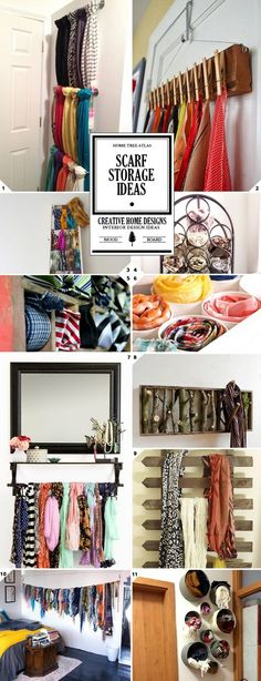 Itu0027s Pretty Surprising The Number Of Ways You Can Create Storage For Your  Scarves. The 15+ Scarf Storage Ideas In This Post Have Been Divided Up Into  A) ...