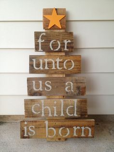 Wooden Christmas sign I made out of old pallets.