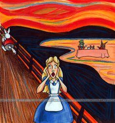 Munch in Wonderland by pickety-witch.deviantart.com on @deviantART