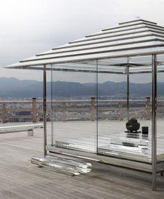 tokujin yoshioka glass tea house-kou-an