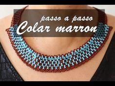 NM Bijoux - Colar Marron/Azul - passo a passo