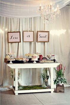 love is sweet cake table
