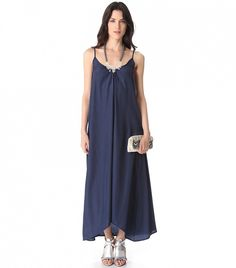 One by Pink Stitch Resort Maxi Dress in Navy