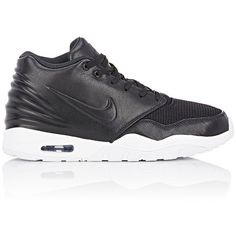 Nike Men's Air Entertrainer Sneakers (7510 RSD) ❤ liked on Polyvore featuring men's fashion, men's shoes, men's sneakers, black, mens shoes, mens black sneakers, nike mens sneakers, mens black shoes and mens sneakers