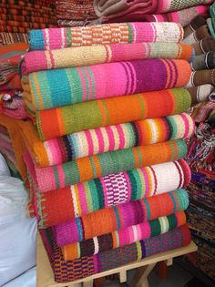 Frazadas / Andean Rugs / Colorful Blanket from by elhummingbird Colorful Pillows, Colorful Rugs, Peruvian Textiles, Boho Home, Sheep Wool, House Colors, Hand Weaving, How To Make, Handmade