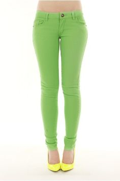 DESTROYED COLORED SKINNY JEAN-Jeans-Womens JeansDenim JeansHigh