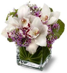orchids centerpiece: